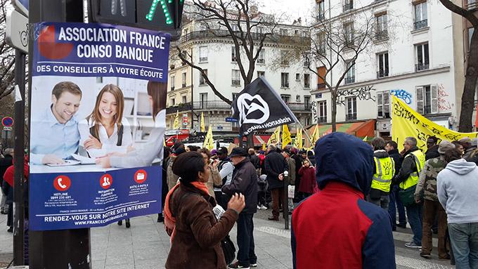 France Conso Banque avec Nuit Debout – Mai 2016